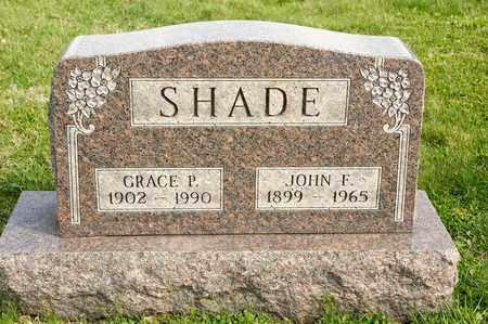 SHADE, GRACE P - Richland County, Ohio | GRACE P SHADE - Ohio Gravestone Photos