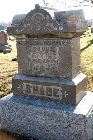 SHADE, JOHN - Richland County, Ohio | JOHN SHADE - Ohio Gravestone Photos