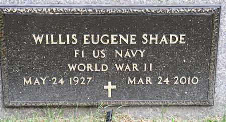 SHADE, WILLIS EUGENE - Richland County, Ohio | WILLIS EUGENE SHADE - Ohio Gravestone Photos