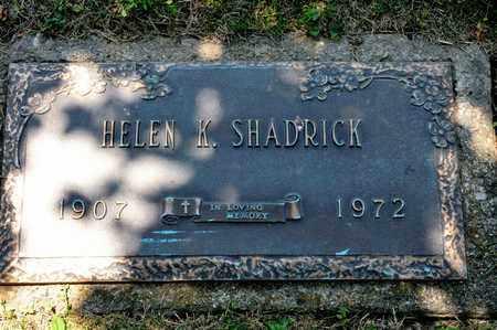 SHADRICK, HELEN K - Richland County, Ohio   HELEN K SHADRICK - Ohio Gravestone Photos