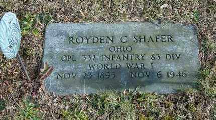 SHAFER, ROYDEN C - Richland County, Ohio | ROYDEN C SHAFER - Ohio Gravestone Photos
