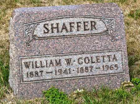 SHAFFER, COLETTA - Richland County, Ohio | COLETTA SHAFFER - Ohio Gravestone Photos