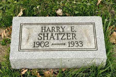 SHATZER, HARRY E - Richland County, Ohio | HARRY E SHATZER - Ohio Gravestone Photos