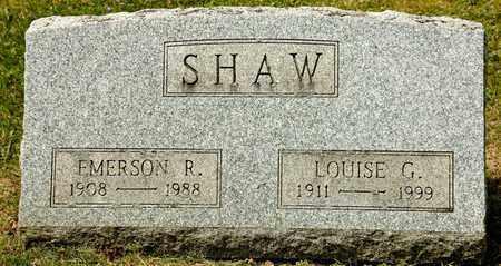 SHAW, EMERSON R - Richland County, Ohio | EMERSON R SHAW - Ohio Gravestone Photos
