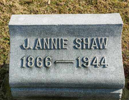 SHAW, J ANNIE - Richland County, Ohio | J ANNIE SHAW - Ohio Gravestone Photos
