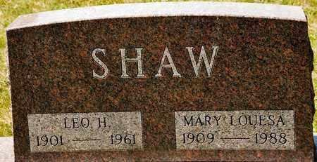 SHAW, LEO H - Richland County, Ohio | LEO H SHAW - Ohio Gravestone Photos
