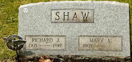 SHAW, RICHARD J - Richland County, Ohio | RICHARD J SHAW - Ohio Gravestone Photos