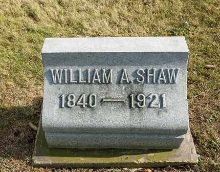 SHAW, WILLIAM A - Richland County, Ohio | WILLIAM A SHAW - Ohio Gravestone Photos
