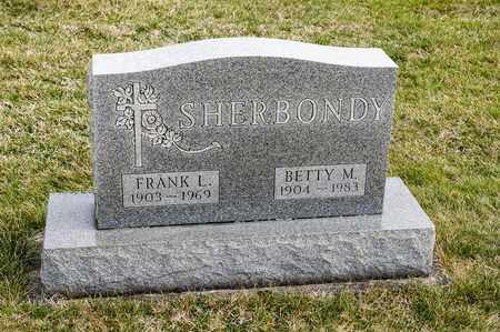 SHERBONDY, BETTY M - Richland County, Ohio | BETTY M SHERBONDY - Ohio Gravestone Photos