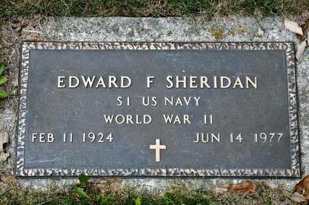 SHERIDAN, EDWARD F - Richland County, Ohio | EDWARD F SHERIDAN - Ohio Gravestone Photos