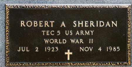 SHERIDAN, ROBERT A - Richland County, Ohio | ROBERT A SHERIDAN - Ohio Gravestone Photos