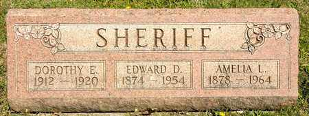 SHERIFF, EDWARD D - Richland County, Ohio | EDWARD D SHERIFF - Ohio Gravestone Photos