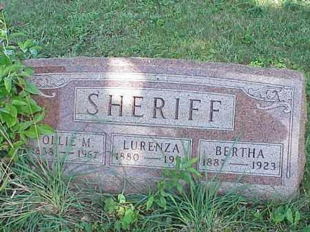 SHERIFF, LURENZA - Richland County, Ohio | LURENZA SHERIFF - Ohio Gravestone Photos
