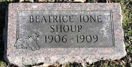 SHOUP, BEATRICE IONE - Richland County, Ohio   BEATRICE IONE SHOUP - Ohio Gravestone Photos