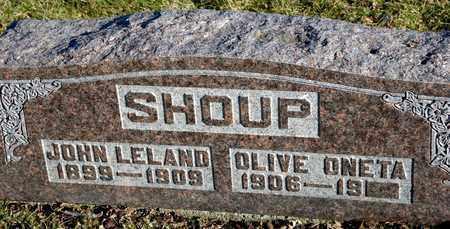 SHOUP, JOHN LELAND - Richland County, Ohio   JOHN LELAND SHOUP - Ohio Gravestone Photos