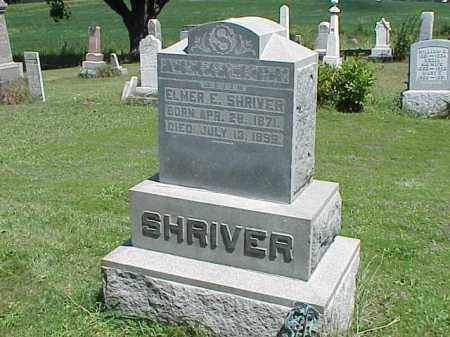 SHRIVER, ELMER E. - Richland County, Ohio | ELMER E. SHRIVER - Ohio Gravestone Photos