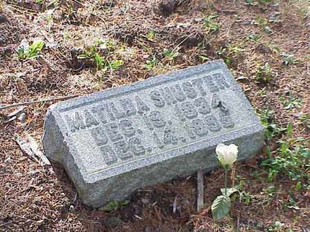 SHUSTER, MATILDA - Richland County, Ohio | MATILDA SHUSTER - Ohio Gravestone Photos