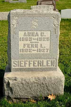 SIEFFERLEN, ANNA C - Richland County, Ohio | ANNA C SIEFFERLEN - Ohio Gravestone Photos