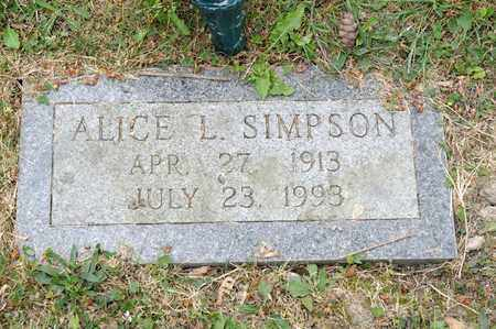 SIMPSON, ALICE L - Richland County, Ohio | ALICE L SIMPSON - Ohio Gravestone Photos