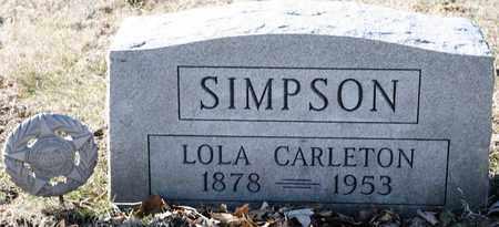 SIMPSON, LOLA - Richland County, Ohio | LOLA SIMPSON - Ohio Gravestone Photos