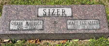 SIZER, MARY ELIZABETH - Richland County, Ohio | MARY ELIZABETH SIZER - Ohio Gravestone Photos