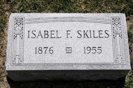 SKILES, ISABEL F - Richland County, Ohio   ISABEL F SKILES - Ohio Gravestone Photos
