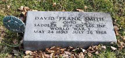 SMITH, DAVID FRANK - Richland County, Ohio   DAVID FRANK SMITH - Ohio Gravestone Photos