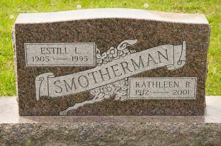 SMOTHERMAN, ESTILL L - Richland County, Ohio | ESTILL L SMOTHERMAN - Ohio Gravestone Photos
