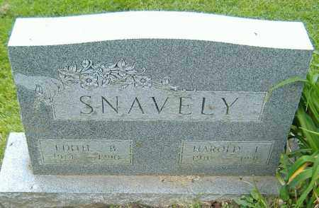 SNAVELY, HAROLD LEROY - Richland County, Ohio | HAROLD LEROY SNAVELY - Ohio Gravestone Photos
