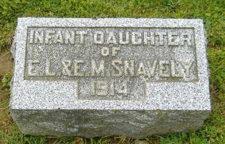 SNAVELY, INFANT DAUGHTER - Richland County, Ohio   INFANT DAUGHTER SNAVELY - Ohio Gravestone Photos