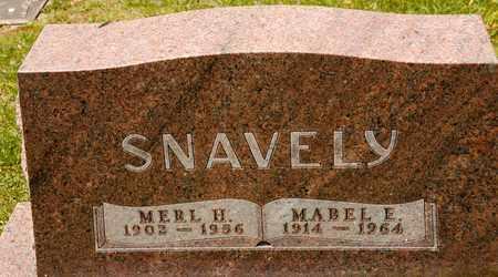 SNAVELY, MABEL E - Richland County, Ohio   MABEL E SNAVELY - Ohio Gravestone Photos
