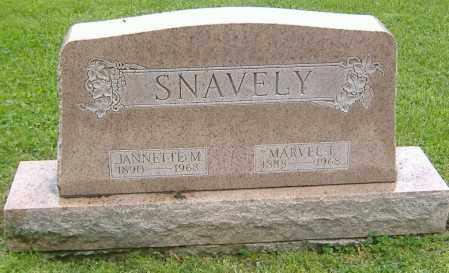 SNAVELY, MARVEL TRACY - Richland County, Ohio | MARVEL TRACY SNAVELY - Ohio Gravestone Photos
