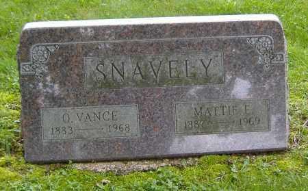 SNAVELY, MATTIE ELLEN - Richland County, Ohio | MATTIE ELLEN SNAVELY - Ohio Gravestone Photos