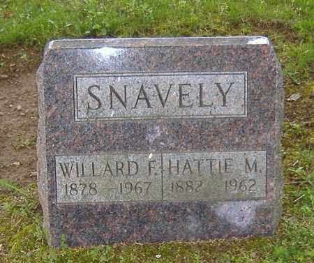 PIPER SNAVELY, HATTIE MAY - Richland County, Ohio | HATTIE MAY PIPER SNAVELY - Ohio Gravestone Photos