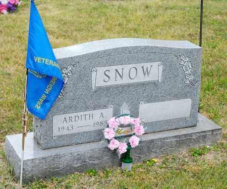 SNOW, ARDITH A - Richland County, Ohio   ARDITH A SNOW - Ohio Gravestone Photos