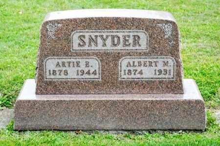 SNYDER, ALBERT M - Richland County, Ohio | ALBERT M SNYDER - Ohio Gravestone Photos