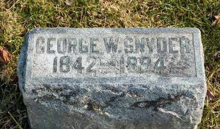 SNYDER, GEORGE W - Richland County, Ohio   GEORGE W SNYDER - Ohio Gravestone Photos