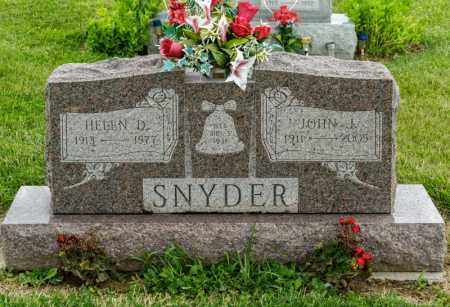 SNYDER, HELEN D - Richland County, Ohio | HELEN D SNYDER - Ohio Gravestone Photos