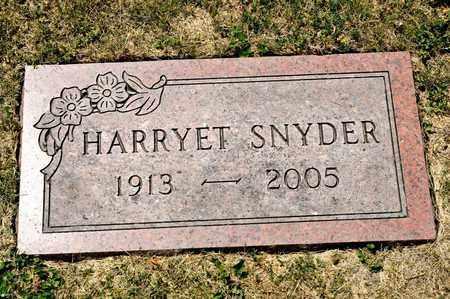 SNYDER, HARRYET - Richland County, Ohio | HARRYET SNYDER - Ohio Gravestone Photos