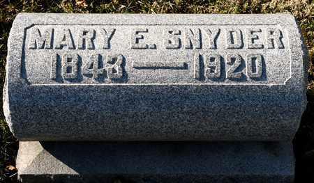 SNYDER, MARY E - Richland County, Ohio   MARY E SNYDER - Ohio Gravestone Photos