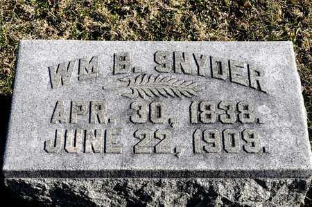 SNYDER, WILLIAM B - Richland County, Ohio   WILLIAM B SNYDER - Ohio Gravestone Photos