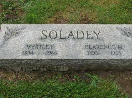 SOLADEY, MYRTLE F. - Richland County, Ohio | MYRTLE F. SOLADEY - Ohio Gravestone Photos