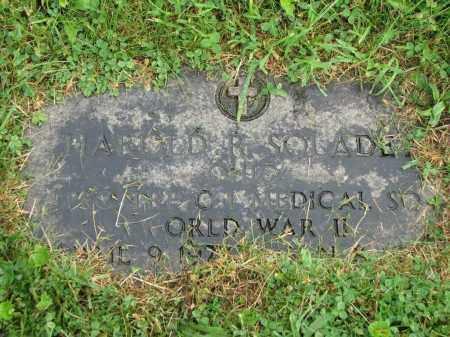 SOLADEY, HAROLD R. - Richland County, Ohio   HAROLD R. SOLADEY - Ohio Gravestone Photos