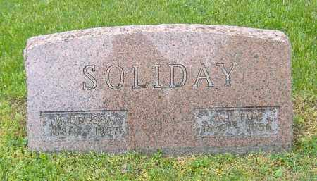 SNAVELY SOLIDAY, MARY ODESSA - Richland County, Ohio | MARY ODESSA SNAVELY SOLIDAY - Ohio Gravestone Photos