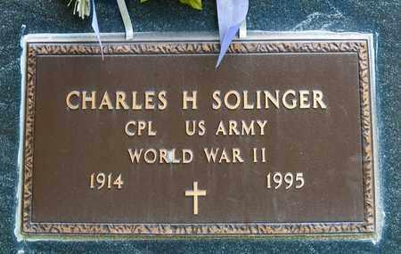 SOLINGER, CHARLES H - Richland County, Ohio   CHARLES H SOLINGER - Ohio Gravestone Photos