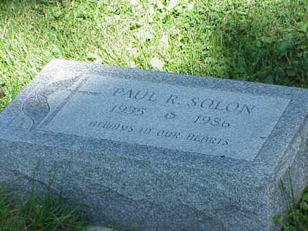 SOLON, PAUL R. - Richland County, Ohio | PAUL R. SOLON - Ohio Gravestone Photos