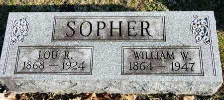SOPHER, WILLIAM W - Richland County, Ohio | WILLIAM W SOPHER - Ohio Gravestone Photos