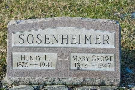 SOSENHEIMER, HENRY L - Richland County, Ohio | HENRY L SOSENHEIMER - Ohio Gravestone Photos