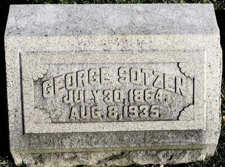 SOTZEN, GEORGE - Richland County, Ohio   GEORGE SOTZEN - Ohio Gravestone Photos
