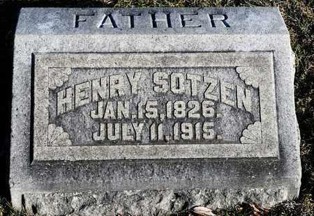 SOTZEN, HENRY - Richland County, Ohio | HENRY SOTZEN - Ohio Gravestone Photos
